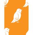 Seamless bird pattern vector image vector image