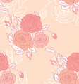 roses seamless vector image vector image