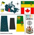 Map of Saskatchewan vector image