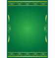 green decorative card with tracery vector image vector image