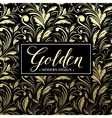 Luxury seamless background with gold frame vector image