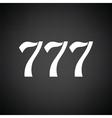 777 icon vector image