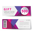 gift voucher discount template design vector image