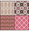 Set of Vintage Tiles Backgrounds vector image vector image