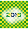 Abstract patterns of color flag of Brazil with vector image