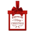 Big Christmas sale square banner in form of gift vector image