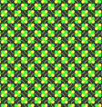 Colored green and yellow spring pattern vector image