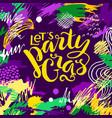 mardi gras lettering card vector image