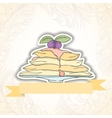 Pancakes invitation card vector image