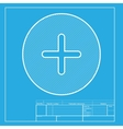 Positive symbol plus sign White section of icon vector image