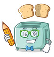 student toaster character cartoon style vector image