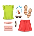 Women Clothing Accessories Set vector image