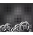Metal background and gears vector image vector image