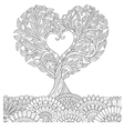 love tree in oct coloring vector image