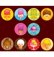 cute ice cream buttons vector image vector image