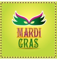 mardi gras background with mask and text vector image