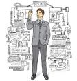 businessman comments vector image