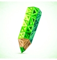 Abstract triangles color pencil vector image