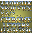 Chrome Metal Letters vector image