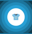 isolated t-shirt flat icon blouse element vector image