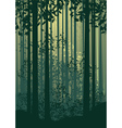 Abstract Forest Landscape vector image