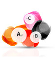 abstract gem stones vector image vector image