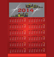 red calendar 2014 vector image