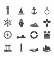 Sailing and Sea Icons vector image vector image
