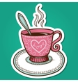 Tea or coffee cup with heart vector image vector image