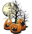 laughing pumpkins vector image