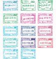 travel stamps of ukraine vector image