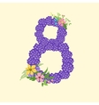 Number eight 8 of flowers vector image