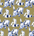 cartoon donkey bear background funny style vector image