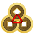 Feng shui coins vector image