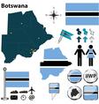 Botswana map vector image