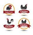 chicken label 4 vector image