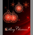 christmas red design with balloons in retro style vector image