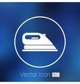 iron icon steam heat isolated clothing vector image