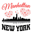 New York city Typography Graphic with hearts and vector image