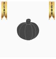 Pumpkin flat icon vector image