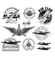 retro pattern set of planes badges design vector image