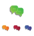 Speech bubbles sign Colorfull applique icons set vector image