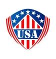 Usa heraldic shield symbol vector image