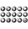 simple multimedia icons vector image vector image