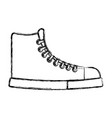 Sketch draw boot cartoon vector image