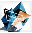 Modern 3d glossy overlapping triangles vector image vector image