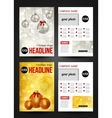 Set of Christmas corporate business stationery vector image
