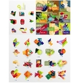 Colorful abstract geometric layouts mega vector image