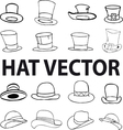fashion hat vector image vector image