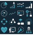 Dotted infographic business icons vector image